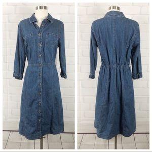 Vintage Dresses - JM collection Vintage Long Sleeve Denim Dress